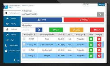 Comarch ERP XL Produkcja Rozliczanie produkcji